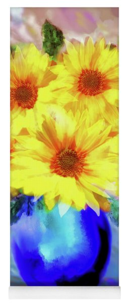 A Vase Of Sunflowers Yoga Mat