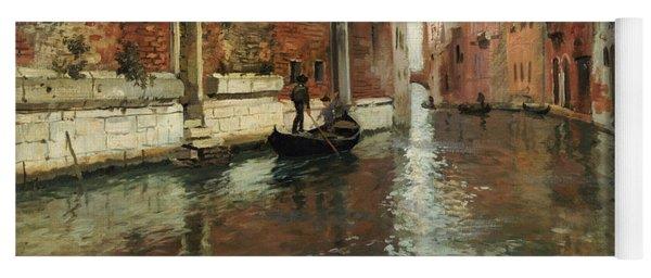 A Venetian Backwater  Yoga Mat