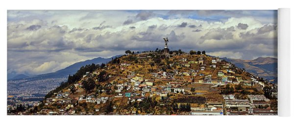A View Of Quito, Ecuador From The Basilica Del Voto Nacional Yoga Mat