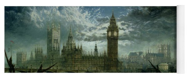 A View Of Westminster Abbey And The Houses Of Parliament Yoga Mat