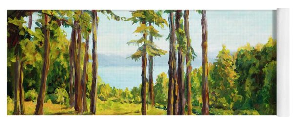 A View To The Lake Yoga Mat