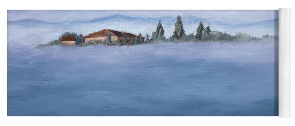 A Villa In The Mist Yoga Mat