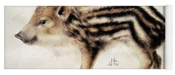 A Wild Boar Piglet Yoga Mat