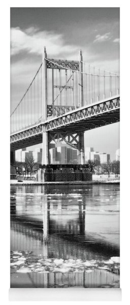 A Winter Portrait Of The Triboro Bridge Yoga Mat