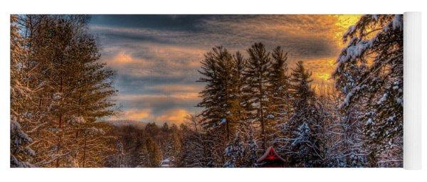A Winter Sunset Yoga Mat