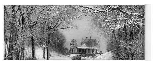 A Winter's Tale In Centerport New York Yoga Mat