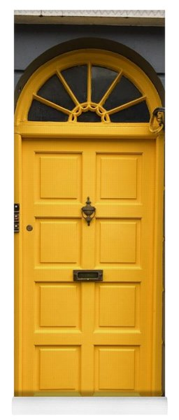 A Yellow Door In Ireland Yoga Mat