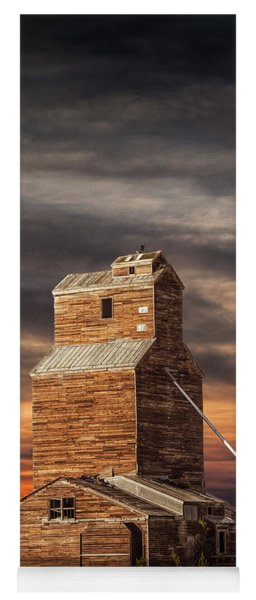 Abandoned Grain Elevator On The Prairie Yoga Mat