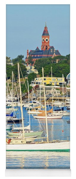 Abbot Hall Over Marblehead Harbor From Chandler Hovey Park Yoga Mat