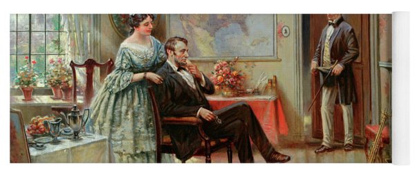Abe And Mary Todd Lincoln Yoga Mat