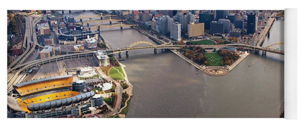 Above Pittsburgh In  Color  Yoga Mat