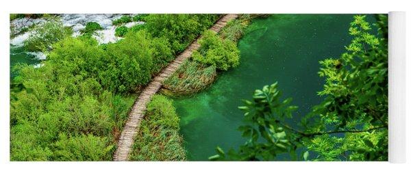 Above The Paths At Plitvice Lakes National Park, Croatia Yoga Mat