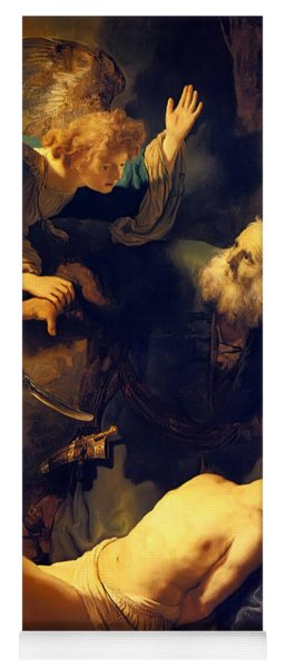Abraham And Isaac Yoga Mat