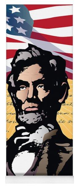 Abraham Lincoln, Gettysburg Address Yoga Mat
