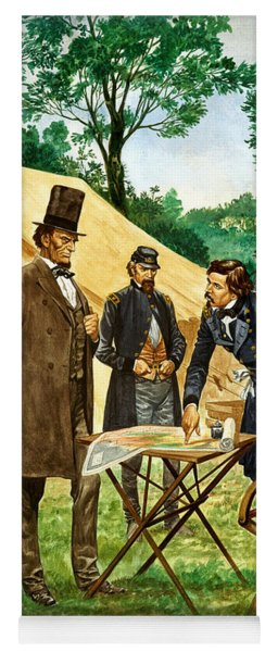Abraham Lincoln Plans His Campaign During The American Civil War  Yoga Mat