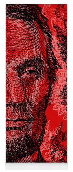 Abraham Lincoln Pop Art Yoga Mat