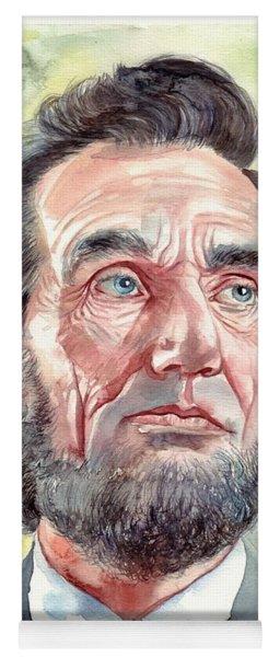 Abraham Lincoln Portrait Yoga Mat