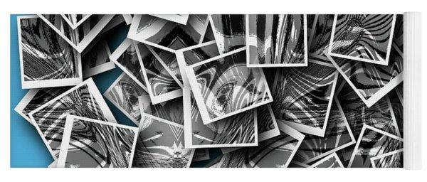 Yoga Mat featuring the digital art Abraxas Collage by Visual Artist Frank Bonilla