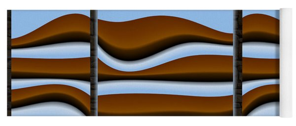 abstract 10 2 Triptych Yoga Mat