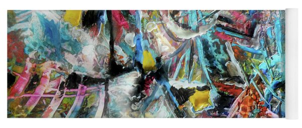 Abstract 301 - Encaustic Yoga Mat