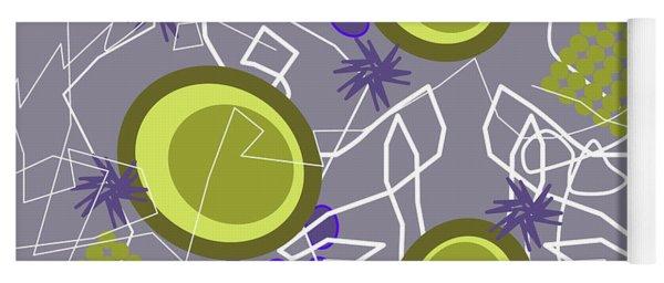 Abstract 8 Purple Yoga Mat