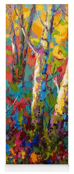 Abstract Autumn II Yoga Mat