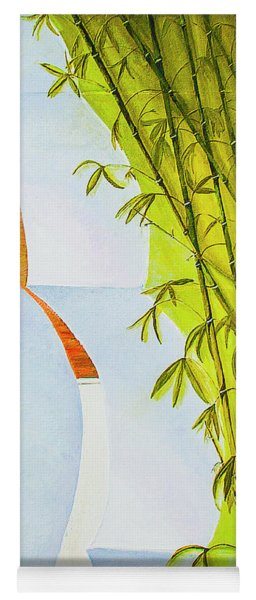 Abstract Bamboo Yoga Mat