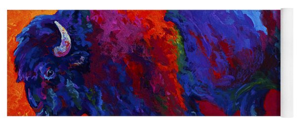 Abstract Bison Yoga Mat