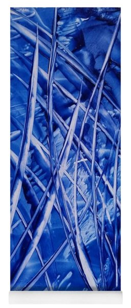 Abstract Blues Encaustic Yoga Mat