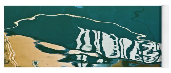 Abstract Boat Reflection Yoga Mat