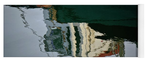 Abstract Boat Reflection II Yoga Mat
