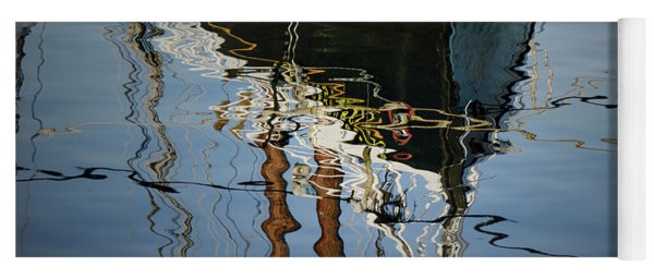 Abstract Boat Reflection IIi Yoga Mat