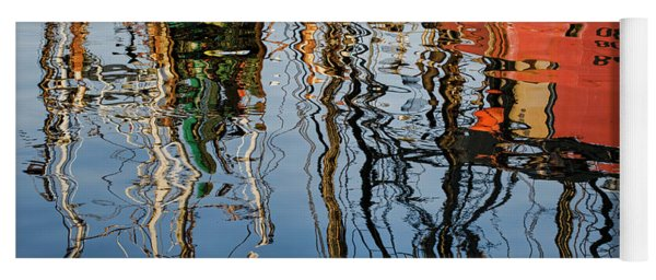 Abstract Boat Reflections Iv Yoga Mat