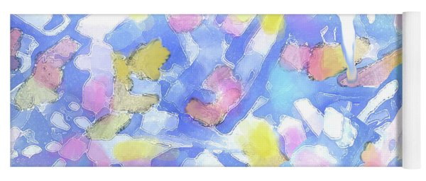 Abstract Clouds 1b Yoga Mat