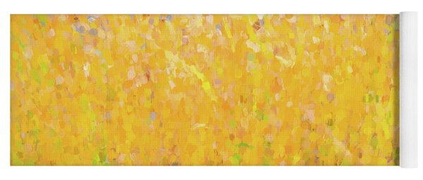 Abstract Colorful Cattails Grasses Painting Yoga Mat