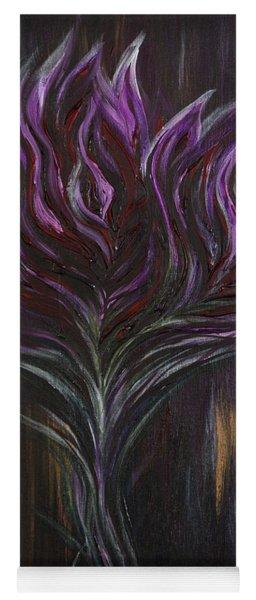 Abstract Dark Rose Yoga Mat