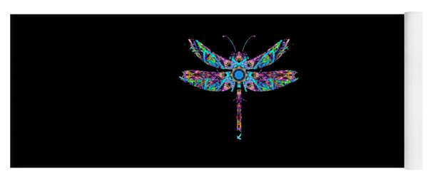 Abstract Dragonfly Yoga Mat