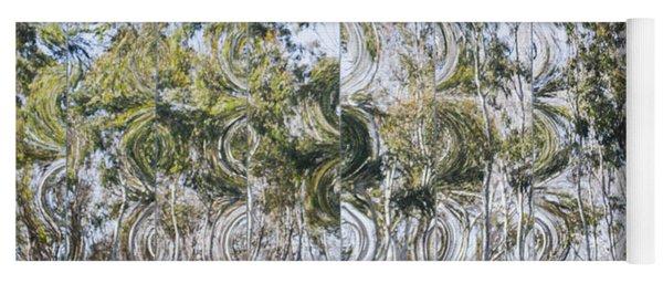 Abstract Eucalyptus Yoga Mat