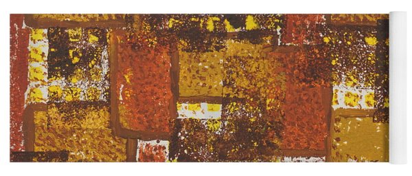Yoga Mat featuring the painting Abstract_ Fall  by Jimmy Clark