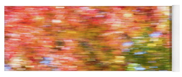 Abstract Fall Leaves 2 Yoga Mat