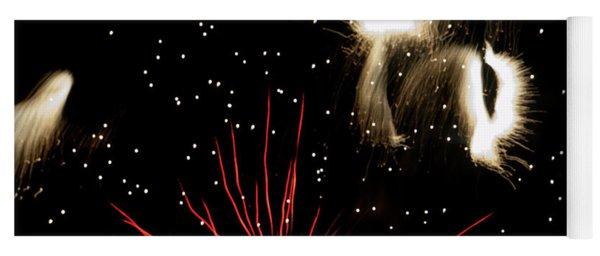 Abstract Fireworks IIi Yoga Mat