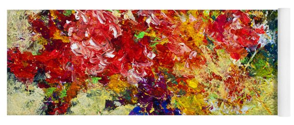 Abstract Floral 1 Yoga Mat