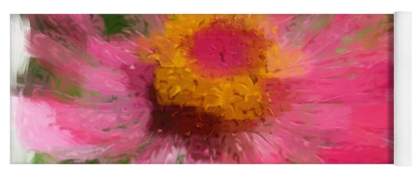 Abstract Flower Expressions Yoga Mat