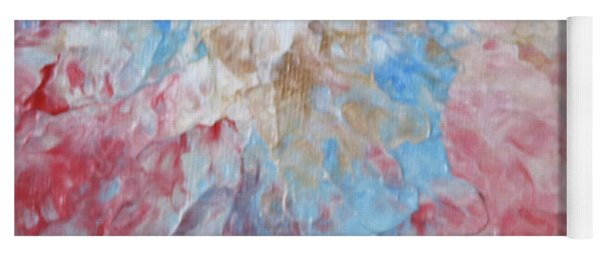 Yoga Mat featuring the painting Abstract Flower In Red Surround by Deborah Boyd