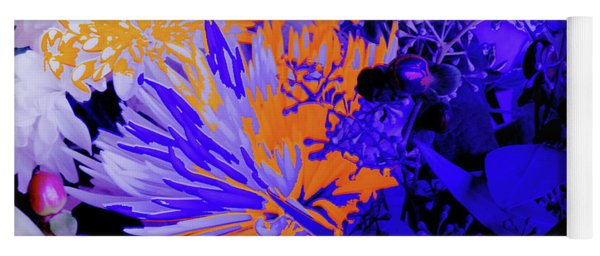 Abstract Flowers Of Light Series #1 Yoga Mat