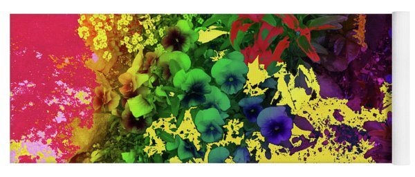 Abstract Flowers Of Light Series #2 Yoga Mat