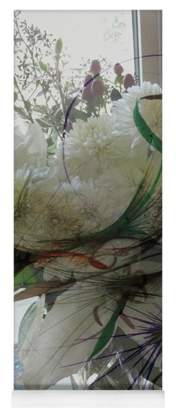 Abstract Flowers Of Light Series #3 Yoga Mat