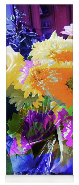 Abstract Flowers Of Light Series #7 Yoga Mat
