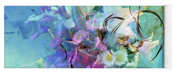 Abstract Flowers Of Light Series #9 Yoga Mat