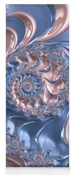 Abstract Fractal Art Rose Quartz And Serenity  Yoga Mat